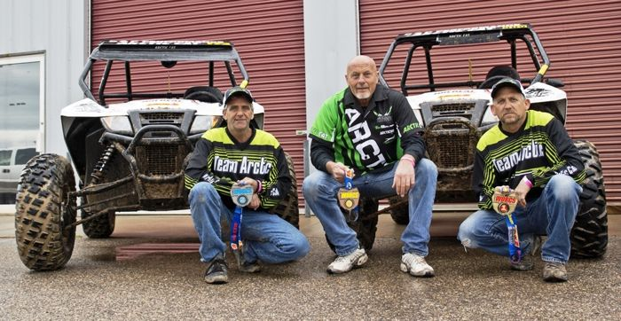 Team Arctic Offroad L-to-R: Stacey Pike, Dean Bulloch and Karl Munford