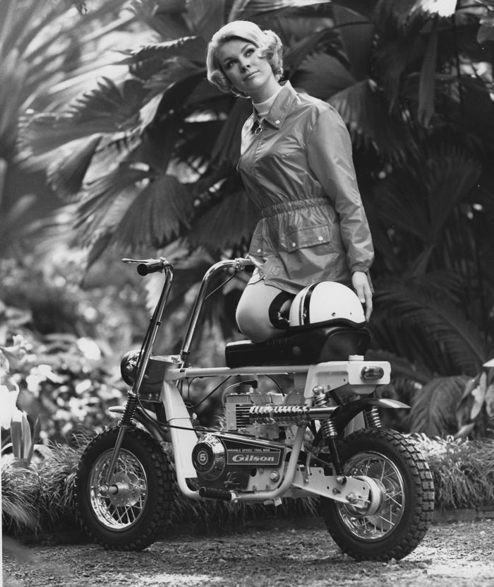 Vintage Gilson minibike press photo is definately TGIF.