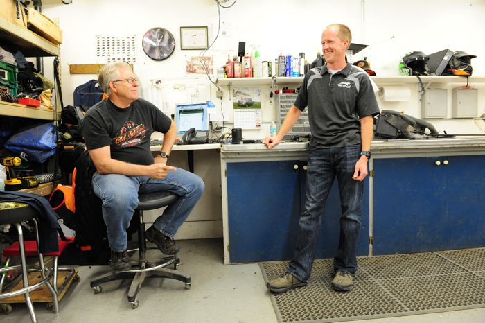 Arctic Cat ATV/UTV engineers John Anderson and Ryan Hughes. Photo by ArcticInsider.com