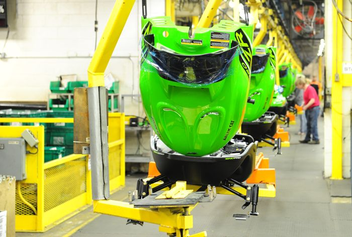 Building 2016 Arctic Cat ZR120 snowmobiles. Photo by ArcticInsider.com