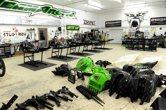 Christian Brothers Racing shop in Fertile, MN. Photo by ArcticInsider.com