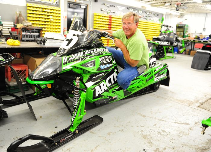 Jim Dimmerman on the 2015 Soo 500 winning Arctic Cat. Photo by ArcticInsider.com
