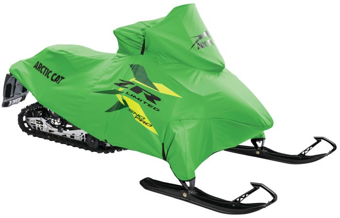 Green cover for Arctic Cat snowmobiles. Photo posted by ArcticInsider.com