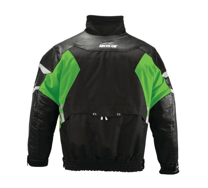 Arctic Cat, snowmobile, leather tex jacket.