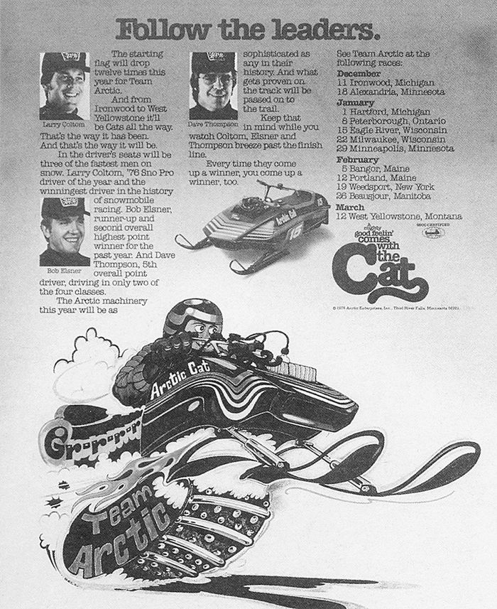 Team Arctic Cat Sno Pro for 1976.