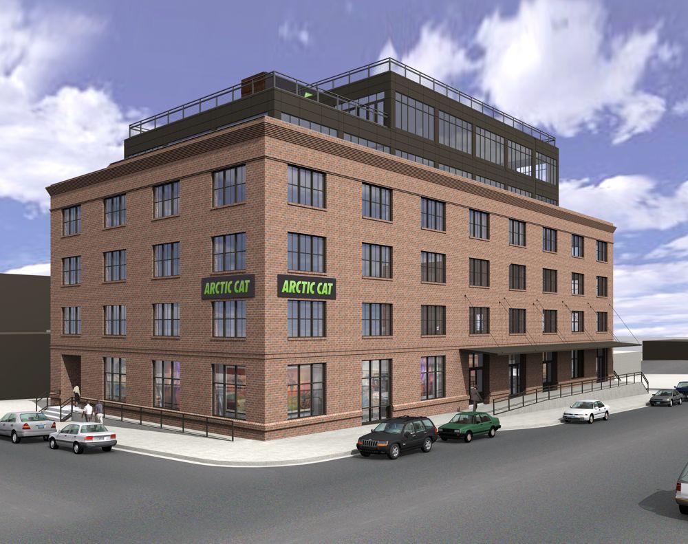 Artistic rendering of Arctic Cat Corporate HQ in Minneapolis. Posted ArcticInsider.com