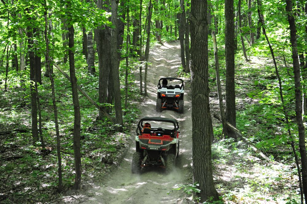Wildcat and ATV riding in Foot Hills State Forest. Photo by ArcticInsider & Pat Bourgeois