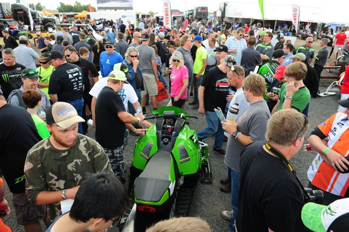 2016 Arctic Cat ZR 6000 R race sleds unveiled at Hay Days. Photo by ArcticInsider.com