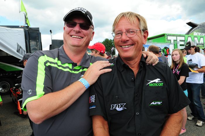 Arctic Cat's Joey Hallstrom and Jim Dimmerman. Photo by ArcticInsider.com