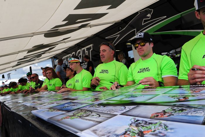 Team Arctic racer autograph session at Hay Days. Photo by ArcticInsider.com