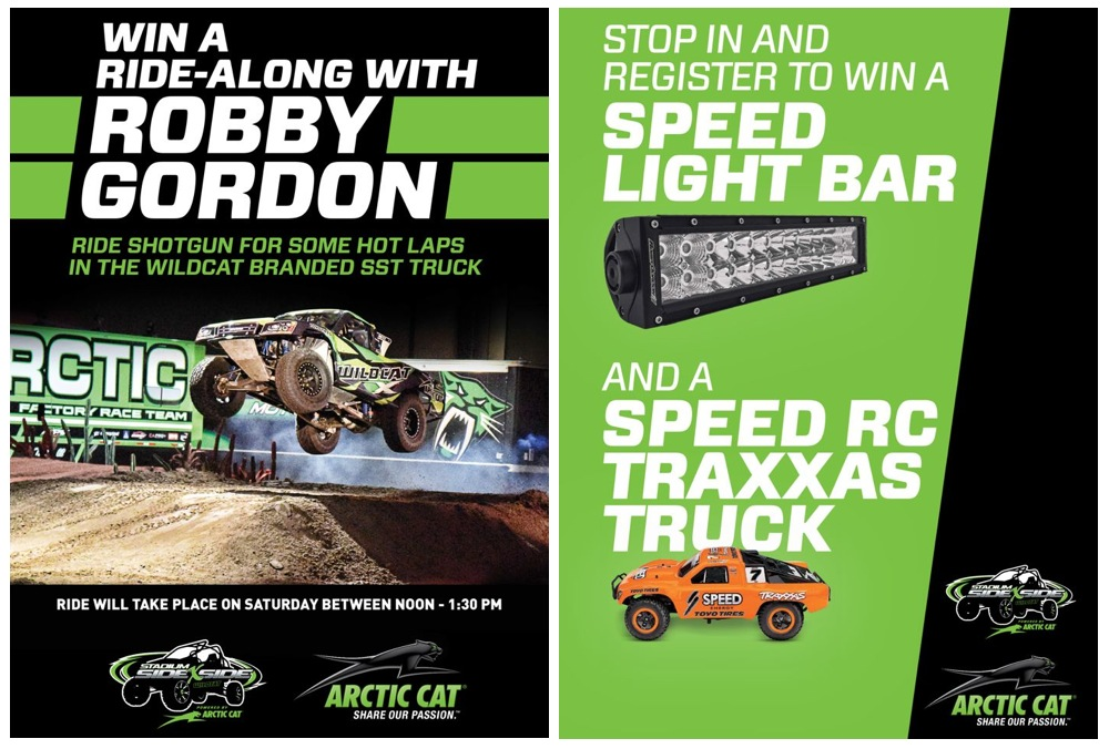 Arctic Cat prizes at Sand Sports Super Show