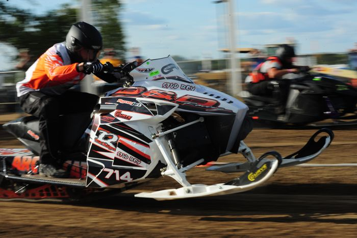 Dylan Roes of D&D Racing & Arctic Cat wins again, at Hay Days 2015. Photo by ArcticInsider.com