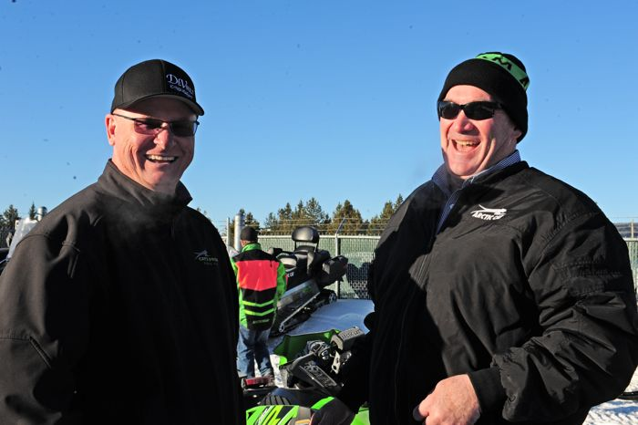 Arctic Cat's Joey Hallstrom (L) and Doug Braswell. Photo by ArcticInsider.com