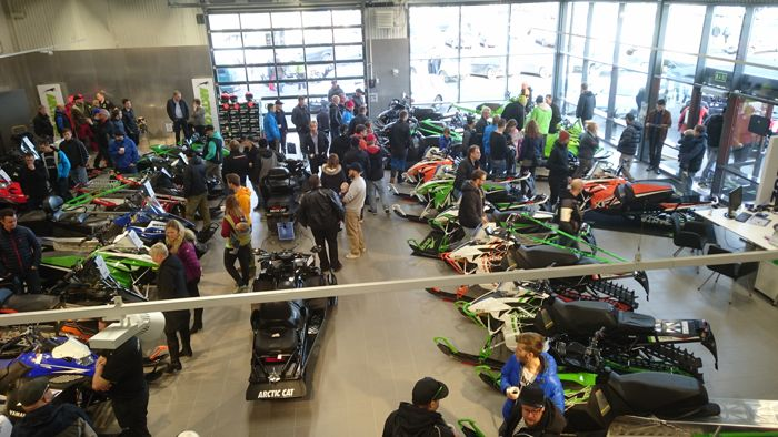 Arctic Cat open house in Sweden.