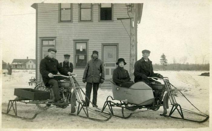 Harley-Davidson converted snowmobiles.