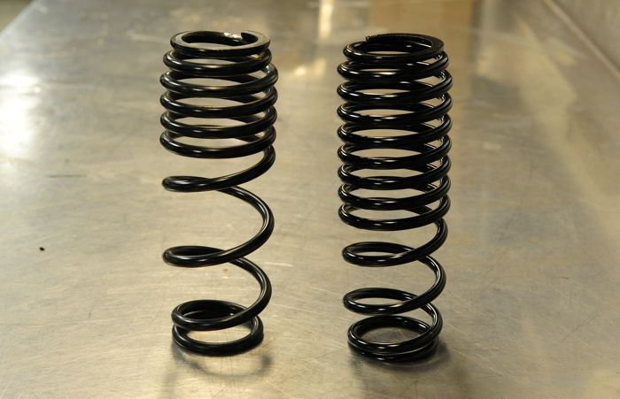 New dual-rate front track shock springs for Arctic Cat snowmobiles.