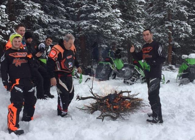 Team Arctic snocross Colorado test trip.
