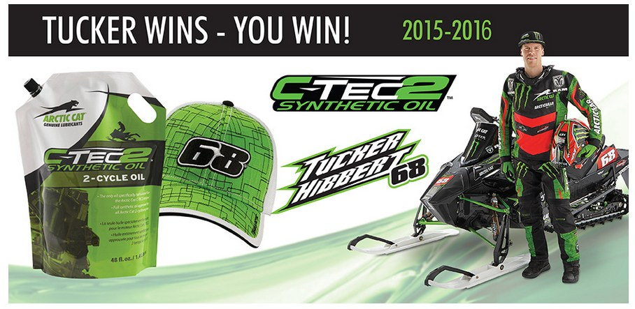 Win with Tucker Hibbert: Arctic Cat C-TEC2 Oil