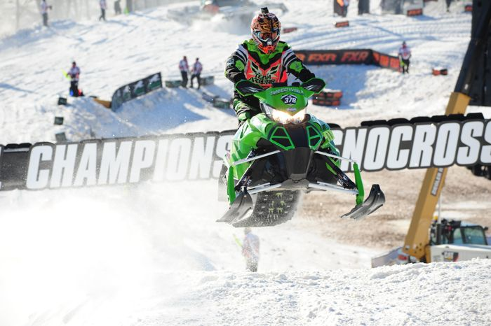 Team Arctic Cat's Brandon Lind. Photo by ArcticInsider.com