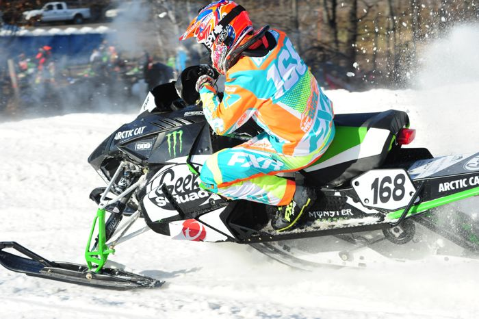 Team Arctic Cat's Justin Broberg. Photo by ArcticInsider.com
