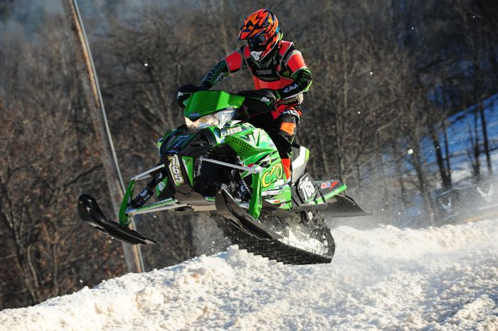Team Arctic Cat's Montana Jess scored a pair of two's in Pro Lite. Photo by ArcticInsider.