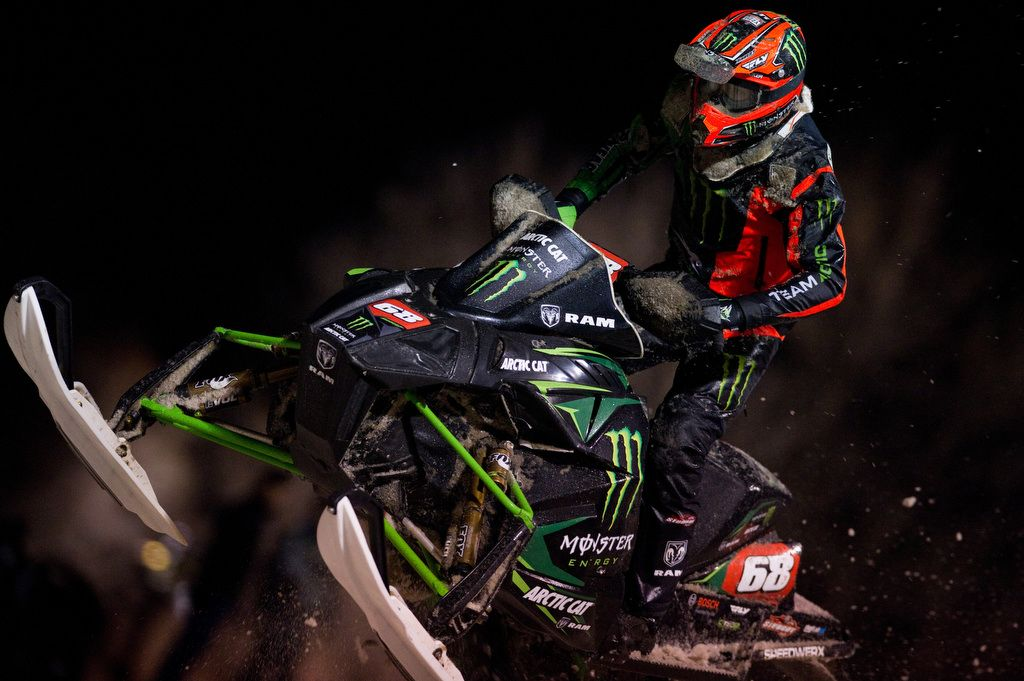 Team Monster Energy/Arctic Cat's Tucker Hibbert at Fargo. Photo by John Hanson