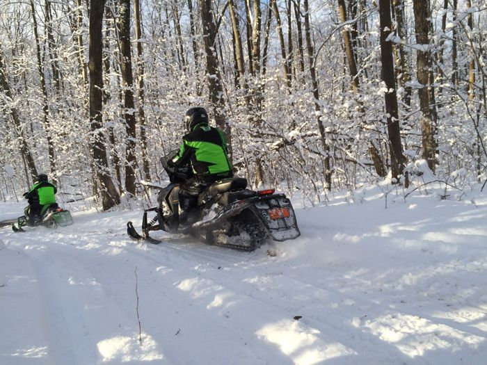 First snowmobile ride of the 2015-2016 season. Photo by ArcticInsider.com