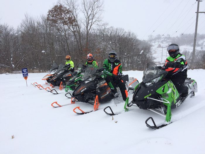 December snow storm ride in Minn. Bluff Country. Pix by Pat Bourgeois & ArcticInsider.com