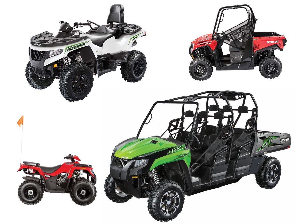 2016 and 2017 Arctic Cat ATV and ROV models