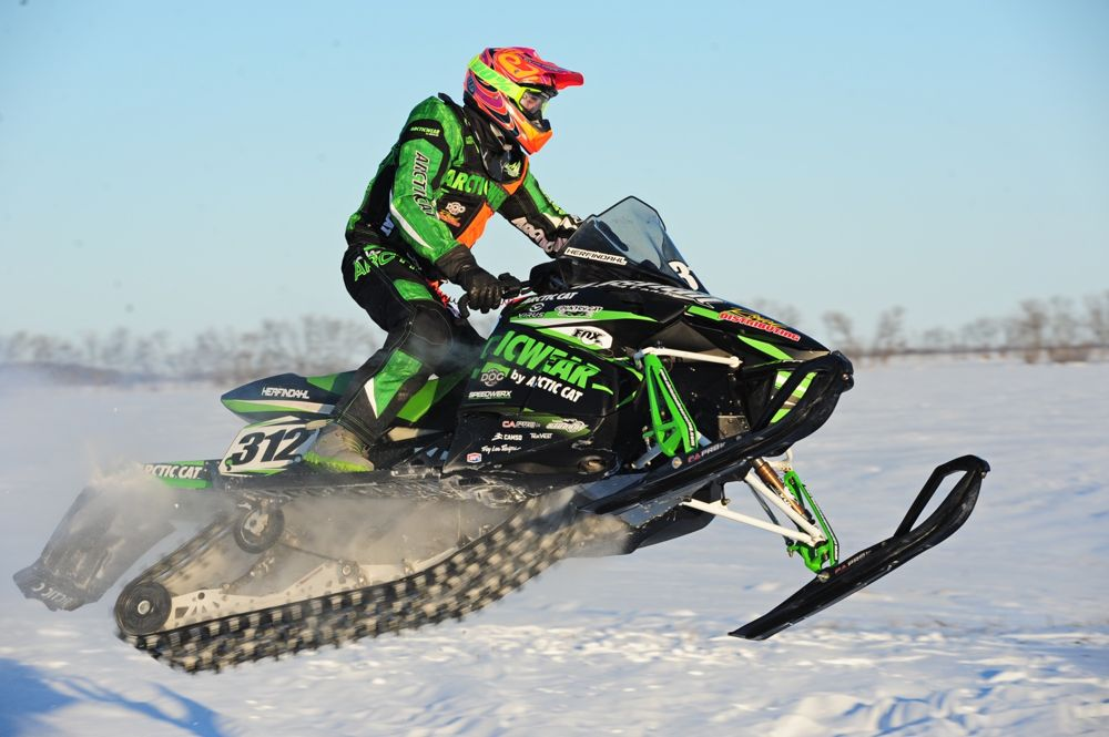 Team Arctic's Zach Herfindahl wins Grafton cross-country. Photo by ArcticInsider.com