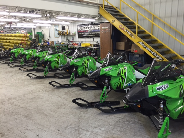 Custom Arctic Cat Soo 500 turn-key race sleds for 2016.