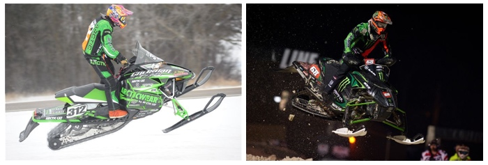 Team Arctic's Zach Herfindahl and Tucker Hibbert.