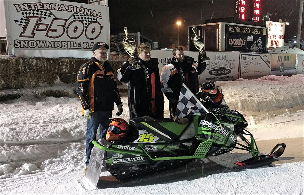 Team Arctic's Lance Efteland and Wes Selby win Woody's Challenge at Soo.