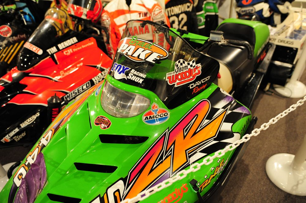 Brad Pake's 1996 I-500 winning Arctic Cat ZR. Photo by ArcticInsider.com