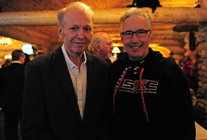 Arctic Cat's Hubert Fixsen and Brian Nelson at the SHOF.