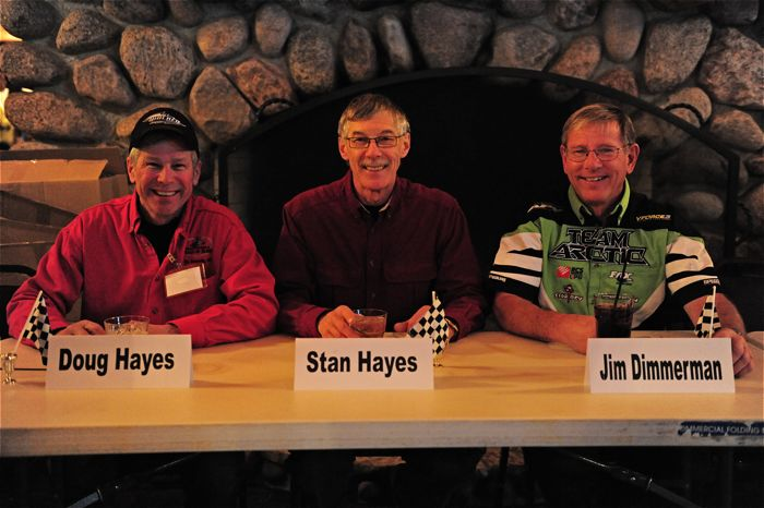 Doug Hayes, Stan Hayes and Jim Dimmerman at the SHOF.