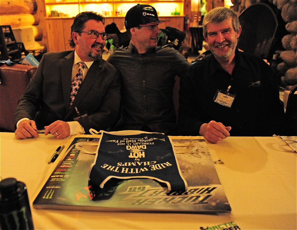 Steve Houle, Tucker Hibbert and Kirk Hibbert at SHOF.. Photo by ArcticInsider.com