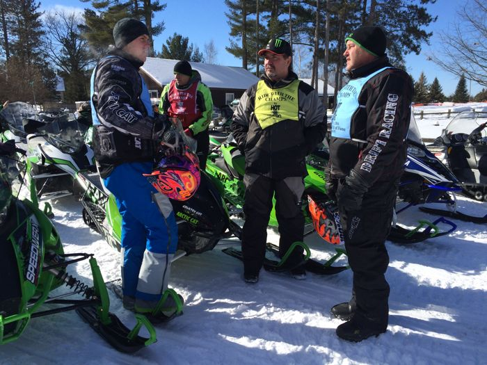 Arctic Cat people at the snowmobile hall of fame. Photo ArcticInsider.com