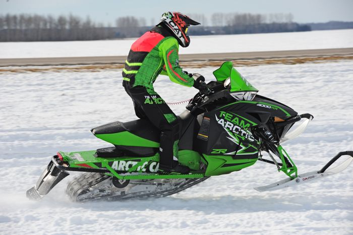 Arctic Cat racer Jordan Bute wins in Warroad. Photo by ArcticInsider.com