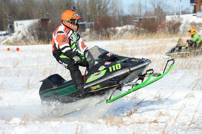 Arctic Cat racer Gerry Mattison wins in Warroad. Photo by ArcticInsider.com