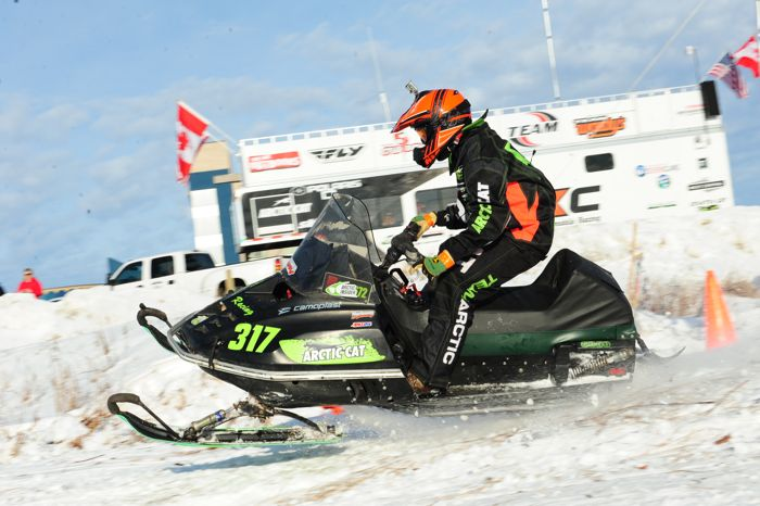 Arctic Cat racer Mike Mattison wins in Warroad. Photo by ArcticInsider.com