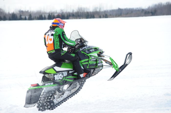 Team Arctic Cat's Ryan Trout wins Semi Pro at Warroad. Photo ArcticInsider.com