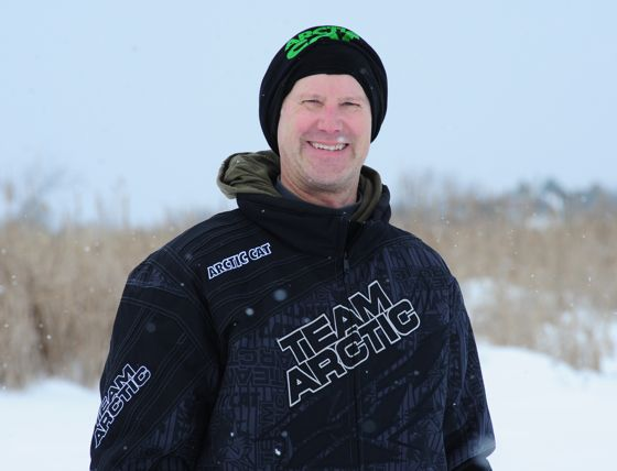 Arctic Cat racer Brian Brown wins in Warroad. Photo by ArcticInsider.com