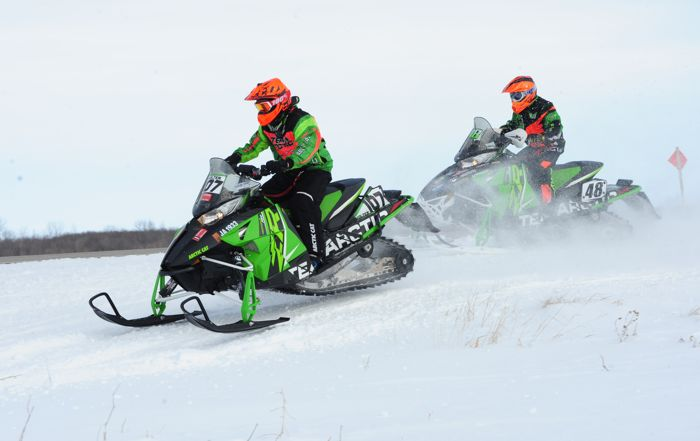 Arctic Cat racers Brandon Wolter and Ean Voight. Photo ArcticInsider.com