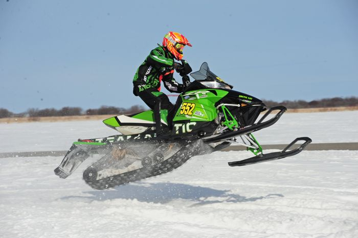 Arctic Cat racer Matt Feil wins in Warroad. Photo by ArcticInsider.com