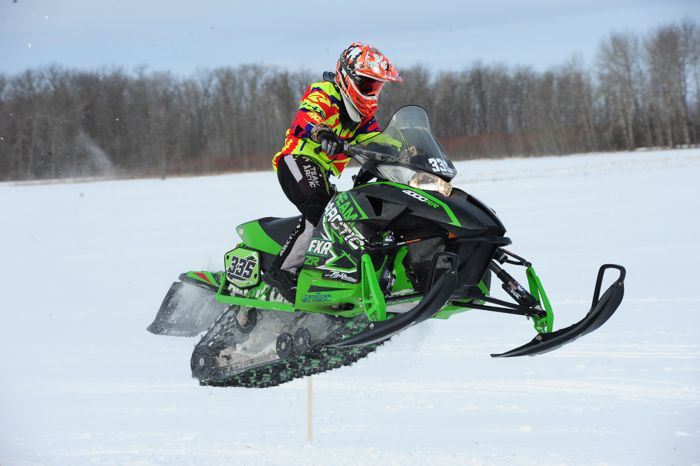 Arctic Cat racer Thomas Junglen wins in Warroad. Photo by ArcticInsider.com