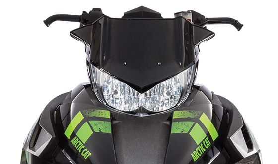 Improved headlight on 2017 Arctic Cat snowmobiles