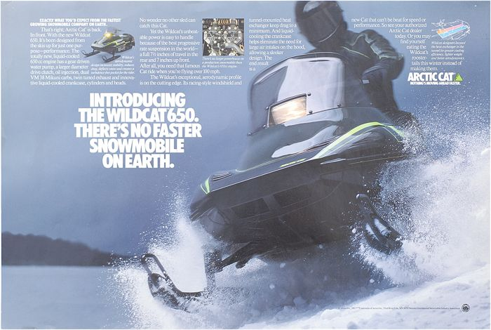 Arctic Cat Wildcat snowmobile