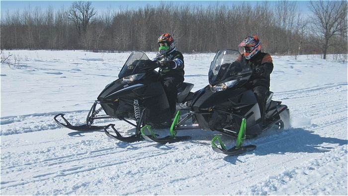Arctic Cat drag race.