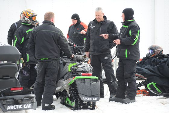 Arctic Cat snowmobile engineers. photo by ArcticInsider.com